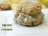 Peanut Butter Banana Ice Cream Sandwiches