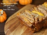 Pumpkin Cinnamon Sugar Pull-Apart Bread with Rum Glaze