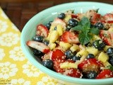 Quinoa Fruit Salad with Honey-Lime Dressing