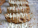 Strawberry Cream Biscotti with White Chocolate