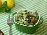 Tortellini Spinach Bake in Creamy Lemon Sauce