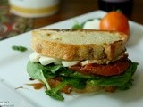 Wc: Roasted Tomato, Mozzerella, and Spinach Sandwiches