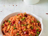 Beetroot Pea Pulao Recipe, How To Make Beet Pulao