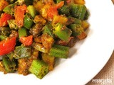 Bhindi Aloo /Okra and Potato fry