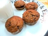 Eggless Banana chocolate Muffins