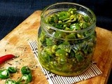 Green Chili Pickle-Maharashtrian style