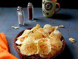 How To Make Sun Dried Potato Chip , Aloo Chips