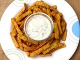 Moong Daal Chips with Achari dip