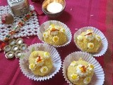 Saffron Delight /cottage cheese and coconut laddoo