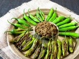 Stuffed Green Chilies/ Bharwa Mirch Ki Subzi
