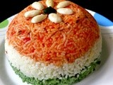 Tiranga Pulao / Vegetable Pilaf