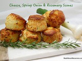 Cheese Scones with Spring Onion & Rosemary