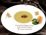 Curried Cauliflower Soup with Seared Scallops – and a Flooded Seine