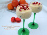 Orange Blossom and Pomegranate Rice Pudding