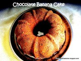 Chocolate Banana Cake/Easy Banana Chocolate Cake