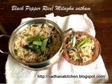 Milagu Orai/Milaghu Satham/ Black Pepper Rice