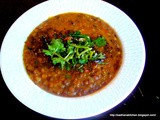 Spicy Whole Brown Lentils / Whole Masoor Masala Dhal
