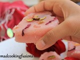 Rose Petals Beetroot Semolina Cakes (Valentine's Day Recipe)