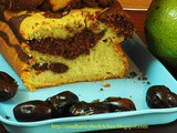 Avocado & Dates marble Cake