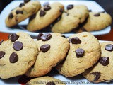 Chestnut flour chocolate chip cookies