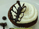 Chocolate cup cake with butterfly topper