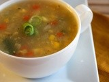 Indo Chinese Recipes - Sweet Corn Vegetable Soup