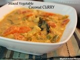 Mixed Vegetable Coconut Curry | Indian Curry Recipes
