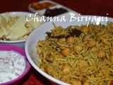 Channa / Chole Biryani