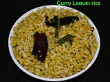 Curry leaves rice recipe / How to make Karuvepillai Sadam