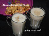 Ice-Apple Lassi and Milkshake recipe | Hotel Style Nungu Lassi and Nungu Paal recipe