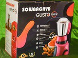 Unboxing and Review – Sowbaghya Gusto 750 watts Mixer