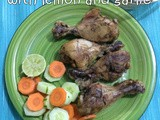 Baked lemon garlic chicken drumsticks | oven baked chicken drumsticks recipes | oven baked chicken thighs recipes