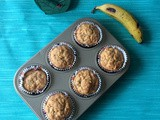 Banana Oatmeal Muffins | Banana Oats Muffins Recipe | Oatmeal Recipes | Banana Muffins with Yogurt