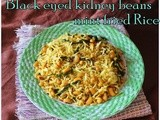 Black eyed peas mint Rice/Left over rice Recipes/Easy and Healthy Indian Rice Recipes/Lunch box recipes/No onion and tomato rice recipes/Step by step pictures