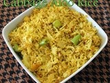 Cabbage potato rice/Aloo cabbage rice/One pot meals/Easy Indian rice recipes/Lunch box recipes