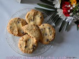 Cashew nut chocolate chip cookies recipe | chocolate chip cashew butter cookies | best cookies recipes