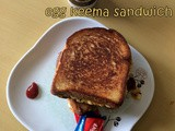 Cheesy Egg Keema Sandwich | Cheesy Egg Sandwich Recipes | Egg Breakfasts | Egg Sandwich Recipes | Breakfast Ideas | 10 Sandwich Recipes