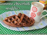 Chocolate banana waffles | chocolate banana bread waffles | Wheat flour chocolate banana waffles | Delicious Banana chocolate waffles for breakfast | cocoa banana waffles | banana waffles with buttermilk