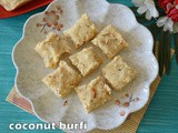 Coconut burfi with condensed milk | coconut burfi with desiccated coconut | coconut sweets | diwali sweets
