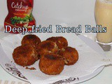 Deep Fried Bread Cheese Balls | Mozzarella Cheese Stuffed Bread Balls | Deep Fried Snacks For Kids | Deep Fried Fritters With Left Over White Bread And Cheese