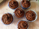 Devil`s Food Chocolate Cupcakes With Buttercream Frosting | Devil`s Food Cupcakes with Frosting | Double Chocolate Buttercream Frosting |