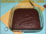 Double chocolate banana cake/Wheat flour banana egg less butter less cake/step by step pictures