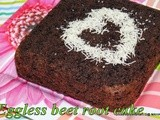 Egg free butter free beetroot double chocolate cake | Eggless butter less beets chocolate cake | How to make healthy beets choco cake without butter and eggs | kids friendly snack cakes