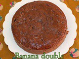 Egg less Butterless Moist Banana Double Chocolate Cake | Easy Guilt free Eggless Cakes | Healthy Banana & Chocolate Cakes for kids | Tea Time Snack Cakes
