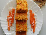 Friday with a friend Guest post by Ruxana | Carrot-Coconut Pola | carrot coconut steam cake | Easy Carrot cake without oven | Malabar recipes