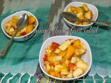 Ginger Mixed Fruit Salad With Lemon And Honey | Quick And Easy Mixed Fruit Salad With Ginger Powder | Lemon Honey Flavored Fruit Salad