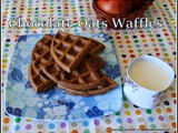 Gluten free Chocolate Oatmeal Waffles | Perfectly Healthy waffles Using Brown Sugar,Wheat Flour,Olive Oil And Oats Flour | Low Calories Chocolate oats Waffles