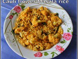 Gobi Masala Rice | Cauli flower Masala Fried Rice | Easy Vegetarian Rice Recipes | Quick And Easy Vegetarian Rice Recipes