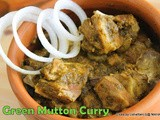 Green mutton curry |Easy  Palak mutton curry | Spinach mutton curry | Palakura mutton curry | Palak Gosht | How to make mutton palak curry | Step by step pictures