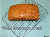 Healthy wheat flour honey bread with yeast/ wheat flour honey sandwich bread/home made break fast bread with yeast/step wise pictures